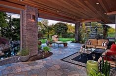 Outdoor living spaces with curtains garden seating areas design with regard Outdoor Living Rooms, Outside Living, Living Spaces, Outdoor Areas, Indoor Outdoor, Outdoor Decor, Design Patio, Garden Design, Carports