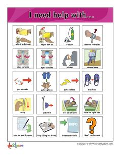 """This """"I Need Help"""" Communication Board Printables & Template is suitable for Kindergarten - Grade. Help scholars communicate their needs with a communications board equipped with 20 pictures including the needs of clothes, school supplies, and more! Multiple Disabilities, Learning Disabilities, Pecs Pictures, Lesson Planet, Animal Body Parts, Preschool Special Education, I Need Help, Resource Room, Social Stories"""