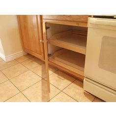 Rolling Shelves Do-It-Yourself Cabinet Pull-Outs for Kitchen, Bathroom, Closet, Storage or anywhere | KitchenSource.com #kitchensource #pinterest #kitchenstorage #cabinetstorage