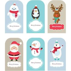 Merry Christmas Character Collection Set - free vector download for commercial use Download free vector graphic & images | cgvector