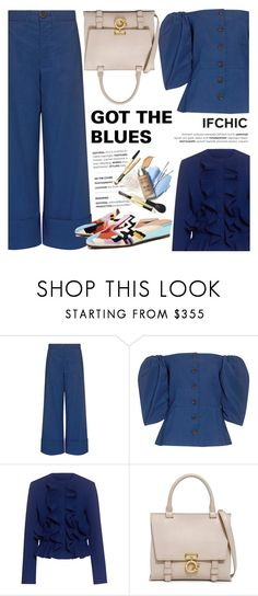"""""""Got the blues!"""" by ifchic ❤ liked on Polyvore featuring Sea, New York, MSGM, 10 Crosby Derek Lam, Rachel Comey and contemporary"""