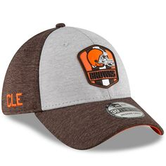 9408b06ed Men's New Era Heather Gray/Brown Cleveland Browns 2018 NFL Sideline Road  Official 39THIRTY Flex Hat