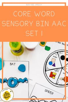Core Word Sensory Bin for AAC and more!