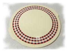 *Granny's irdener Servierplatte / Tablett*  Gestempelt V&B Mettlach, made in Sarre, alter Stempel. Das vichy Karo Muster ist handbemalt.  Form- und Dekorbezeichnung: 8202, Glasgow. (Wurde in 2...