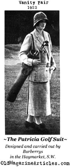 old fashioned golf pics | ... nifty tweed, self-belted golf suit for the fashionable woman of 1922