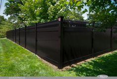 black fence vinyl pvc fence I WANT THIS!!!