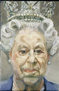 "Lucian Freud - Queen Elizabeth II, Oil on canvas "" The artist wrote to Buckingham Palace asking H. Queen Elizabeth II to attend numerous modeling sessions, a request which she, most unusually,. Lucian Freud Portraits, Lucian Freud Paintings, David Hockney, Sigmund Freud, Elizabeth Ii, Figure Painting, Painting & Drawing, L'art Du Portrait, Edward Hopper"