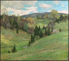 """""""Flying Shadow (No. 2),"""" Willard Leroy Metcalf, ca. 1909, oil on canvas, 26 x 29"""", private collection."""