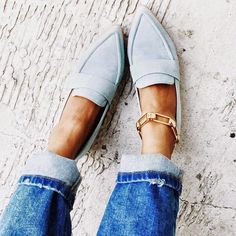Love this pale blue color #shoelover