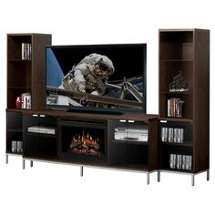 "Dimplex Geneva 98"" TV Stand with Electric Fireplace"