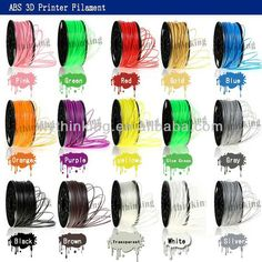 this is our filament, more than 20 colors