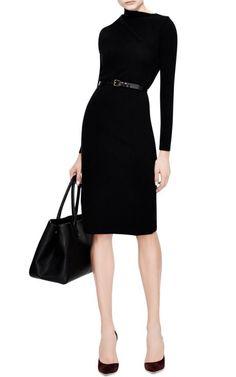Draped Shoulder Knit-Jersey Dress by J. Anderson Now Available on Moda Operandi Lawyer Fashion, Office Fashion, Business Fashion, Work Fashion, Fashion Design, Power Dressing, Jersey Knit Dress, Work Wardrobe, Work Attire