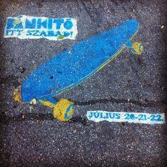 Skateboard in Blue
