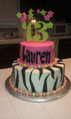 My daughter likes for her 13th Birthday cake