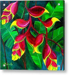 flowers flowers painting art tropical painting flowers flower