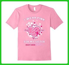 Mens I Wear Pink For My Sister - Breast Cancer Awareness T-Shirt Medium Pink - Relatives and family shirts (*Amazon Partner-Link)