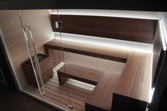 Trendy Home Gym Sauna Indoor Pools Sauna Design, Home Gym Design, Design Design, Sauna Steam Room, Sauna Room, Basement Sauna, Saunas, Sauna Seca, Sauna House