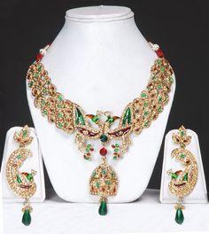 Peacock jewelry set