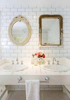 cute bathroom mirror idea