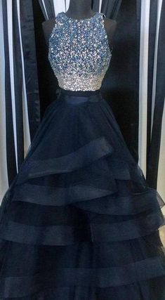 Scoop Neck Tulle Crystals Women Charming Layer Prom Dresses For Woman Source by earnett for teens Prom Dresses For Teens, Prom Outfits, Unique Prom Dresses, Beautiful Prom Dresses, Pretty Dresses, Homecoming Dresses, Formal Prom Dresses, Puffy Prom Dresses, Bridesmaid Dresses