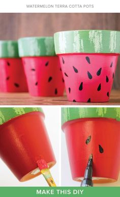 Summer watermelon planters I perfect for a back-to-school teacher's gift I Darby…