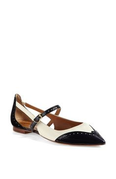 Tory Burch 'Bernadette' Flat -- my latest splurge--they look like black and cream, but are actually navy and cream.