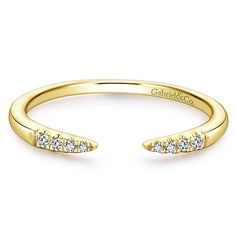Gabriel & Co.-Voted #1 Most Preferred Fine Jewelry and Bridal Brand. 14k Yellow Gold Stackable Ladies' Ring