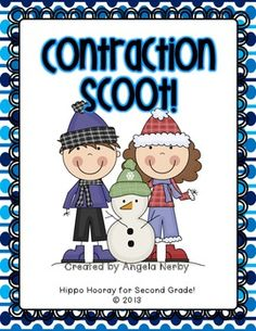 FREEBIE! Scoot!: Contractions