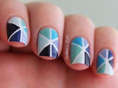 Spektor's Nails: Blue Triangle Nails