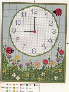 Cross Stitch Love, Cross Stitch Flowers, Cross Stitch Designs, Cross Stitch Patterns, Cross Stitching, Cross Stitch Embroidery, Handmade Clocks, Easter Cross, Canvas Patterns