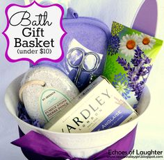 Echoes of Laughter: Bath Gift Basket +FREE Printable Tags