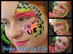 Face Paint - Neon Animal Print