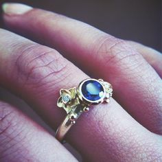 #gold #ring #diamond #flowers #jewelry #bespoke #engagement #castens #weddingring #blue #topaz #handmade #custommade #unique #ooak #jewellery
