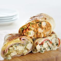 Grilled Chicken & Garden-Fresh Basil Wraps - Recipes | The Pampered Chef