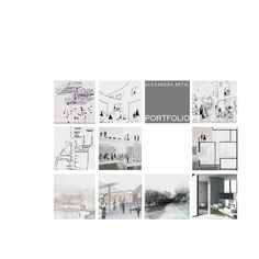 Alexandra Antal PORTFOLIO (Architecture)  student work