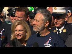 Jon Stewart joins with 9/11 first responders to push for bill renewal   The James Zadroga 9/11 Health and Compensation Act is set to begin expiring next month. If the bill is not renewed health programs for more than 33,000 men and women will be put in jeopardy.    Update for anyone who didn't know: The 9/11 bill was renewed by Congress at the end of 2015, thanks to the efforts of Jon Stewart and the first responders who should have never had to campaign for this.