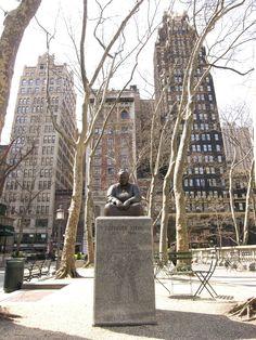 New York Public Library - New York City, New York - William Cullen Bryant Memorial by Herbert Adams