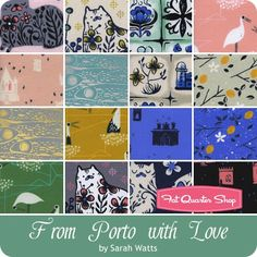 From Porto With Love Charm Pack Reservation <br/>Sarah Watts for Cotton + Steel Fabrics