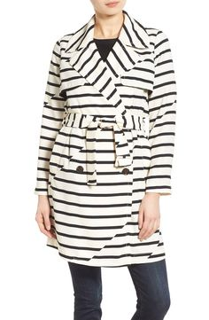 In love with this white and black striped trench coat by Madewell. It's modern yet classic look is perfect for spring.
