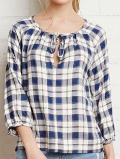 Cheap tie bracelet, Buy Quality tie jewelry directly from China tie side Suppliers: OOPS New 2016 Women Casual Plaid Striped T-Shirts Autumn Loose Lantern Sleeve O-Neck Tie Bow Tops Blusas Femininas Plus Size Womens Clothing, Clothes For Women, Modele Hijab, Short Tops, Scarf Styles, Blouse Designs, Shirt Blouses, Long Sleeve Tops, Couture