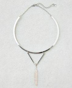 AEO Drop Collar Necklace, Women's, Silver