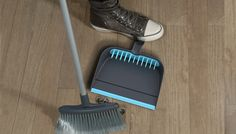 No more gross hair and dust stuck in the bottom of the broom! (so could I just glue a comb onto my dustpan?)