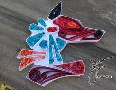 Anubis made by #jorgefriascreaciones #quilling
