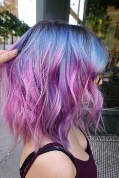 18 quartz inspired pastel hair colors to love – hair color … – Hairstyle Blue And Pink Hair, Hair Color Purple, Hair Dye Colors, Cool Hair Color, Pastel Ombre Hair, Purple Ombre Hair Short, Pastel Colors, Short Pastel Hair, Purple Bob