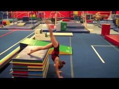 Teaching Handstands to 6 Year Olds. The panel mat drill can also be used for presses