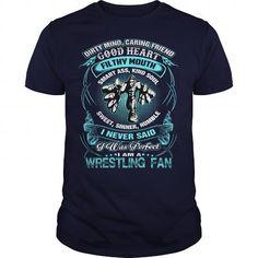 I Am A Wrestling Fan T Shirts, Hoodies, Sweatshirts. CHECK PRICE ==► https://www.sunfrog.com/TV-Shows/I-Am-A-Wrestling-Fan-110730263-Navy-Blue-Guys.html?41382