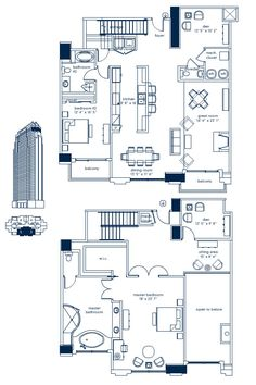 Luxury Condo Floor Plans | The Atlantic Penthouse 4605 – What Can You Buy for $1.8 Million?