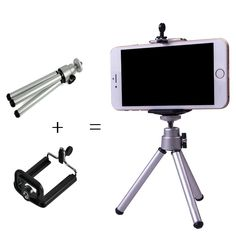 2 1ミニ三脚+電話ホルダーブラケットホルダースタンド三脚ブラケットスタンドマウント一脚デジタルカメラのためのgopro hero 3 4