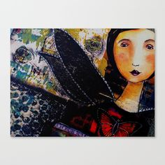 #society6 #painting #draw #drawing #woman #butterly #abstract #shop #canvas