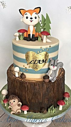 Baby Liam's woodland cake by Ann-Marie Youngblood
